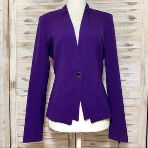 Calvin Klein Purple One-Button Blazer